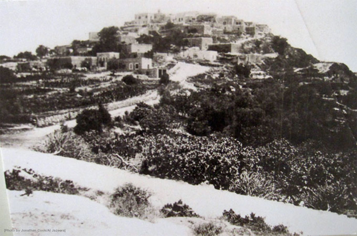 A view of Iqrit, a Palestinian Christian village before 1948