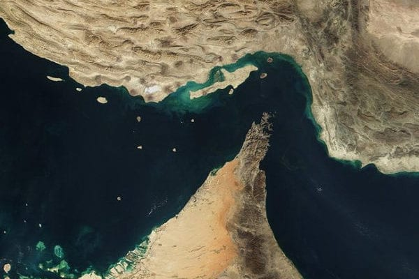 The Strait of Hormuz, Between Iran, Oman and the UAE