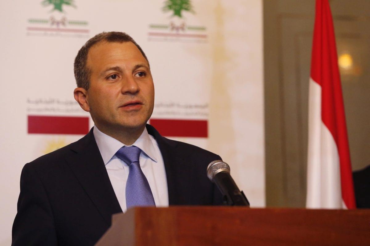 Former Lebanese Foreign Minister Gebran Bassil in Beirut, Lebanon [Ratib Al Safadi/Anadolu Agency]