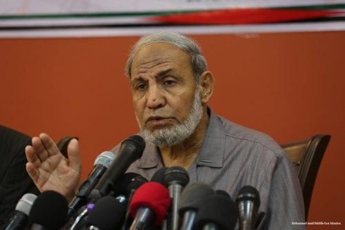 Mahmoud Al-Zahar, a member of the Hamas leadership in Gaza [Mohammed Asad/Middle East Monitor]