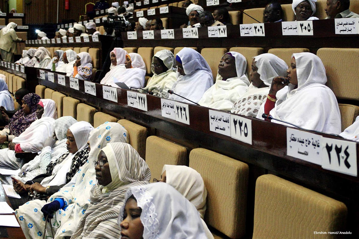 Image of Sudan MPs attending a parliamentary session [Ebrahim Hamid/Anadolu]