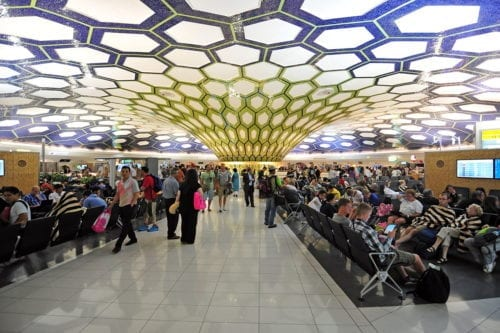 Image of people waiting for their flights in Abu Dhabi, UAE [Ralf Roletschek/Wikipedia]
