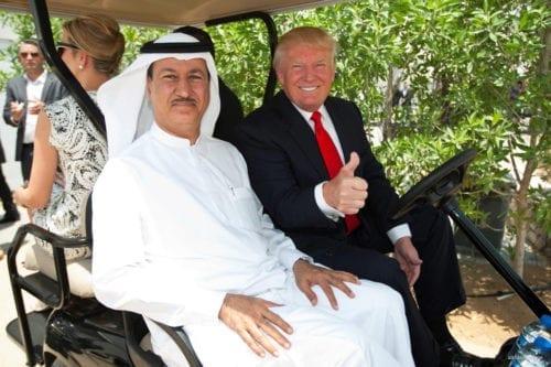 Image of Hussain Sajwani and President-elect Donald Trump [alkhaleejonline]