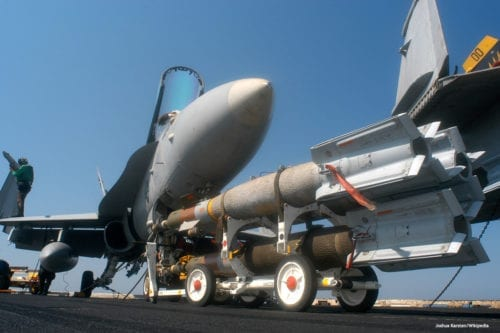 Image of navy weapons being transported [Joshua Karsten/Wikipedia]