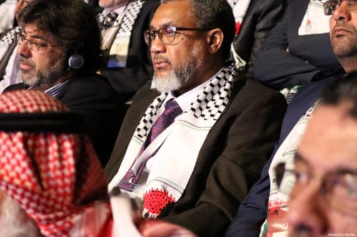 MEMO's Dr Daud Abdullah at the Palestinians Abroad conference in Istanbul, Turkey on February 25, 2017 [Middle East Monitor]