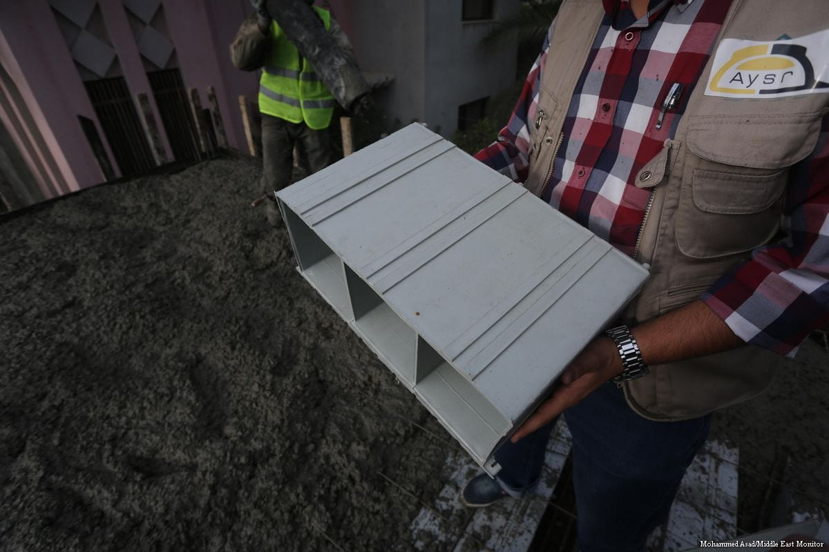 Gaza set to build using recycled plastic middle east monitor for Building with recycled plastic