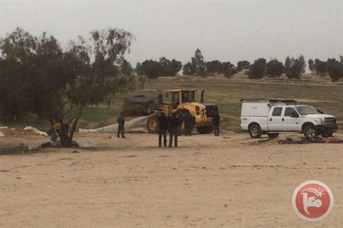 The aftermath of Israeli bulldozers razing Al-Araqeeb village in Negev [maanews]