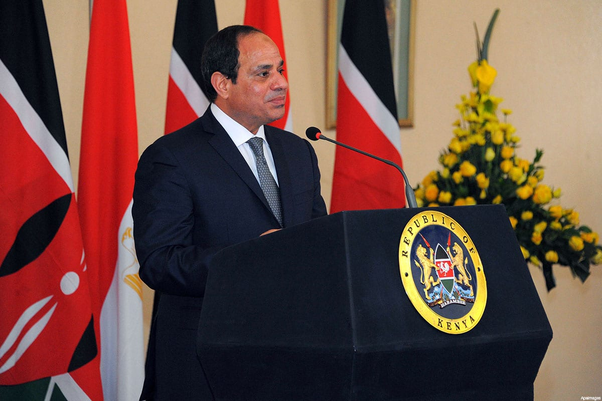 Egyptian President Abdel Fattah al-Sisi gives at a press conference at the State House in Nairobi, Kenya on February 18, 2017 [ApaImages]
