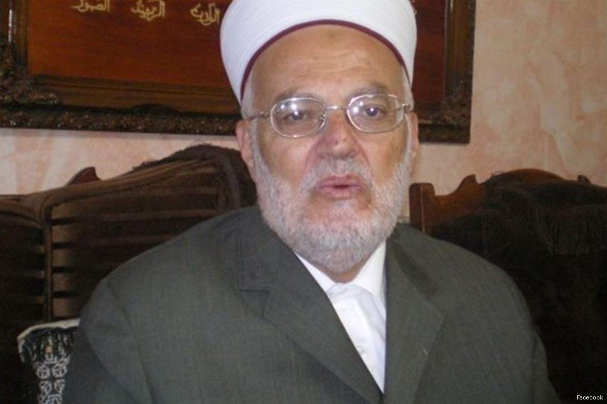 Image of Ekrema Sabri, the head of Supreme Islamic Commission [Facebook]