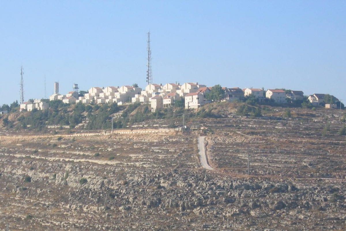 The illegal West Bank settlement of Psagot near Ramallah.