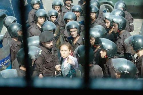 A still from the film Clash (Eshtebak)
