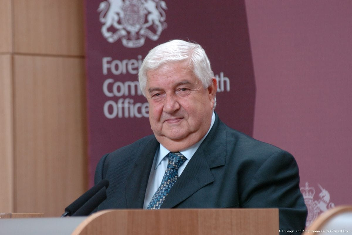 Image of Syrian Foreign Minister Walid Muallem [A Foreign and Commonwealth Office/Flickr]