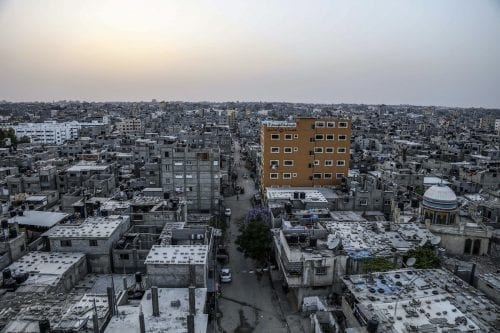 Al-Shati refugee camp, the place where displaced Palestinians took shelter after their exile from Palestine during the Nakba in 1948, is seen in Gaza City, Gaza on 15 May, 2017 [Ali Jadallah/Anadolu Agency]