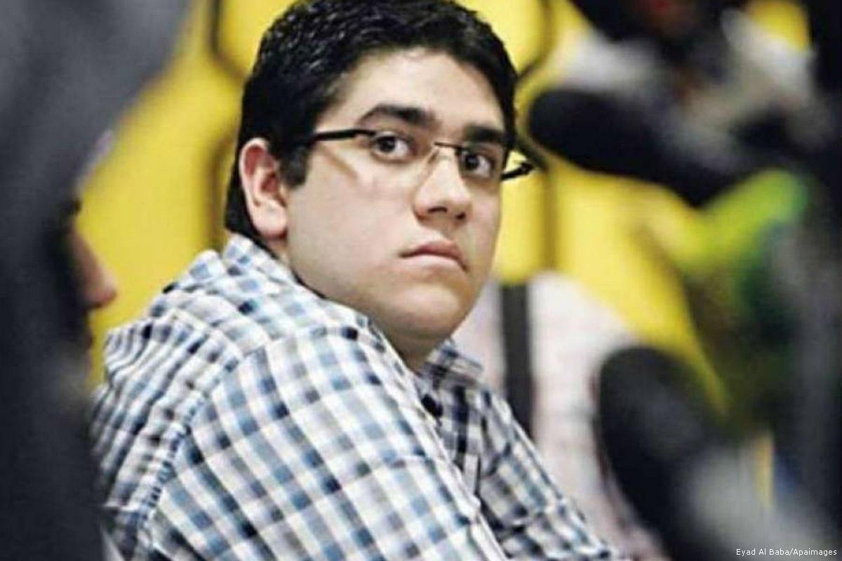 Image of Abdullah, ousted Egyptian President Mohamed Morsi's son [Mugtama]