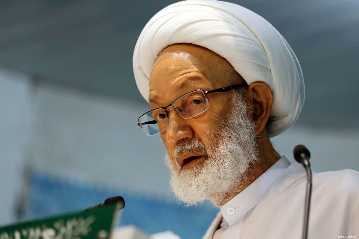 Ayatollah Isa Qassim, the spiritual leader of Shia Muslims in Bahrain