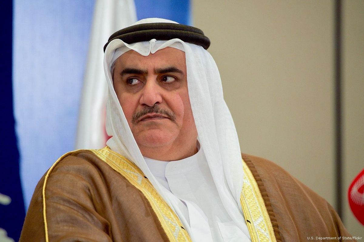 Image of Bahraini Foreign Minister Khalid bin Ahmed al-Khalifa on 17 April 2016 [U.S. Department of State/Flickr]