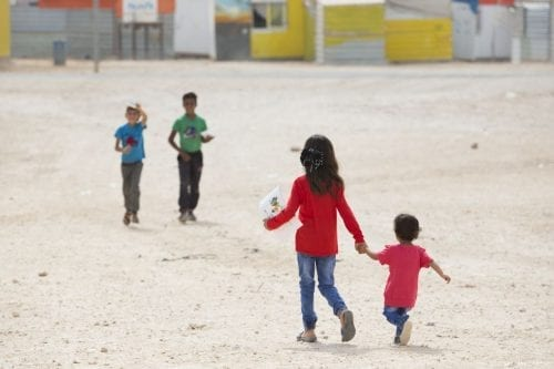 Syrian children at Jordan's Za'atari refugee camp which is home to 80,000 Syrian refugees [Save the Children]