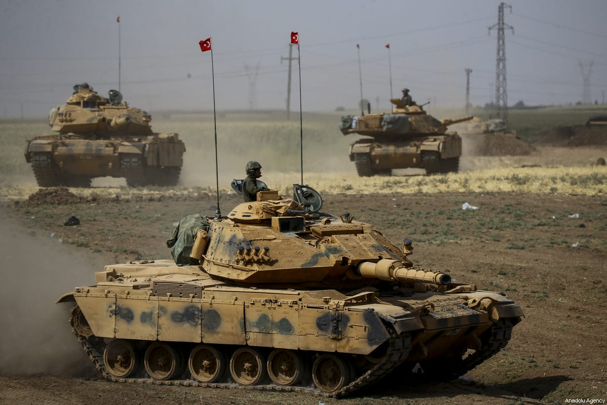A joint military drill conducted by Turkish Armed Forces with the participation of Iraqi army troops in Sirnak province, Turkey on 30 September 2017 [Fatih Aktaş/Anadolu Agency]