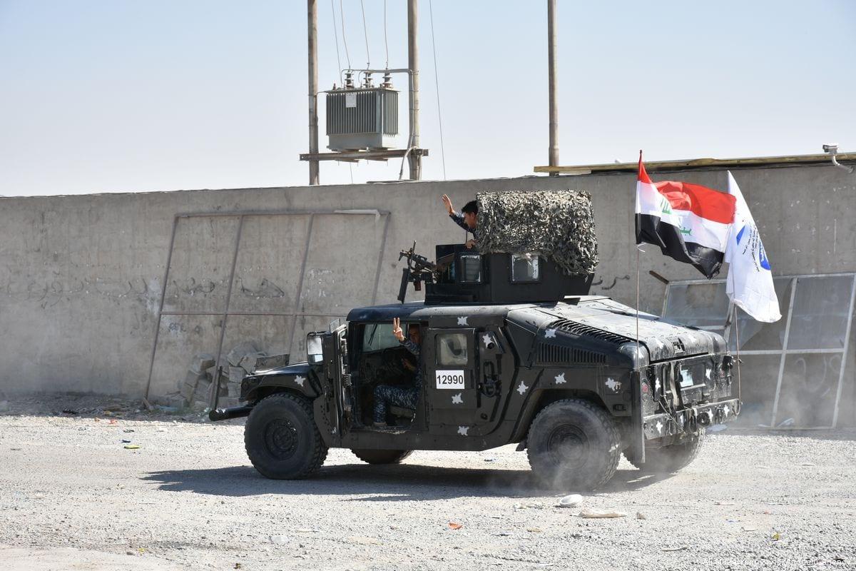 Iraqi security forces in Iraq on 20 October 2017 [Ali Mukarrem Garip/Anadolu Agency]