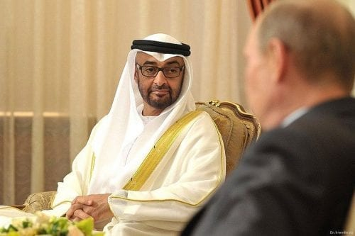 Mohammed Bin Zayed Bin Sultan Al-Nahyan, the crown prince of Abu-Dhabi [En.kremlin.ru]