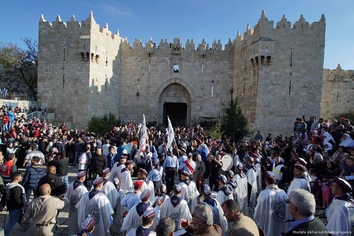 Thousands celebrate Prophet Muhammad's birthday in Al-Aqsa
