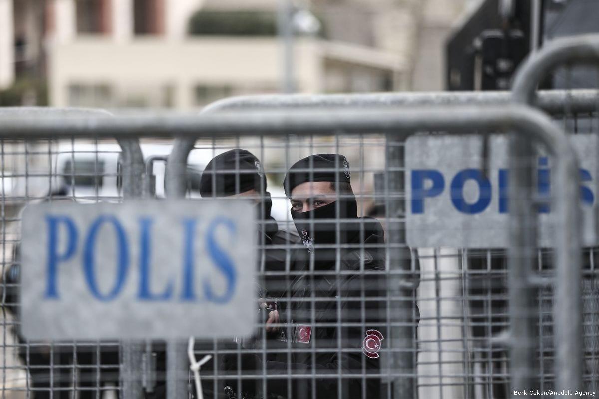 Turkish Police officers in Istanbul, Turkey on 7 December 2017 [Berk Özkan/Anadolu Agency