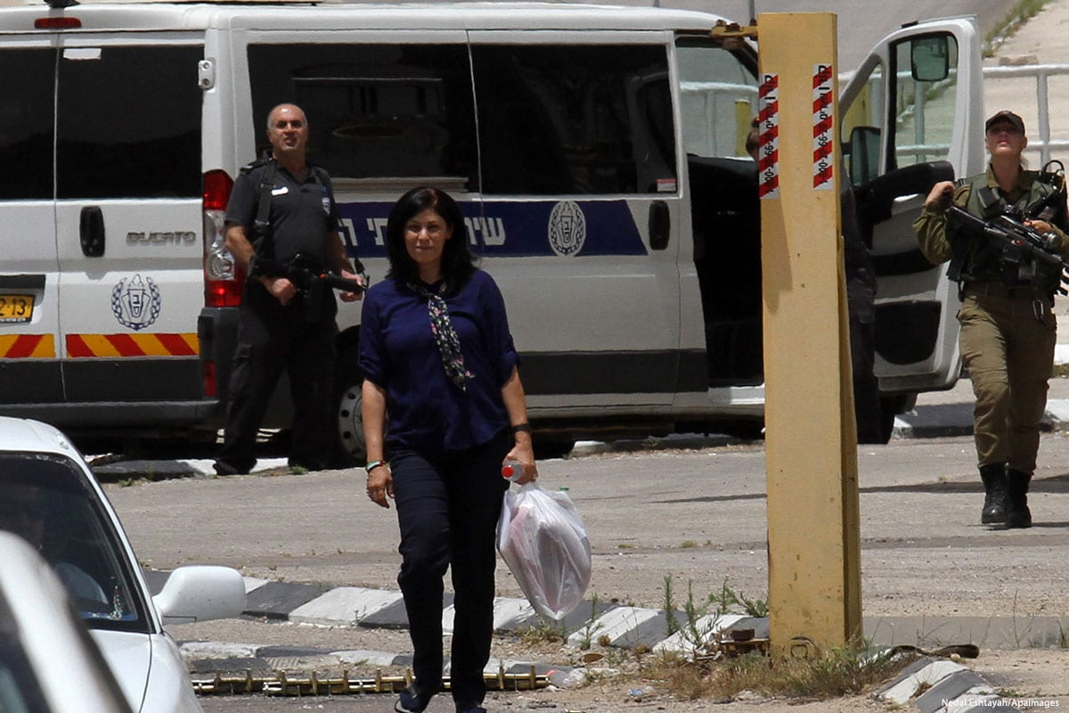 Palestinian lawmaker Khaleda Jarrar [Nedal Eshtayah/Apaimages]
