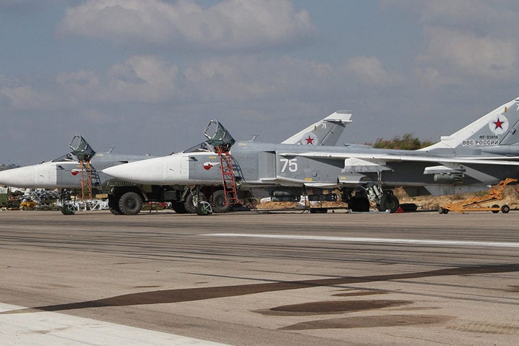 Fighter jets seen at the Russian Air Force's Khmeimim airbase in Syria [File photo, Sputnik]