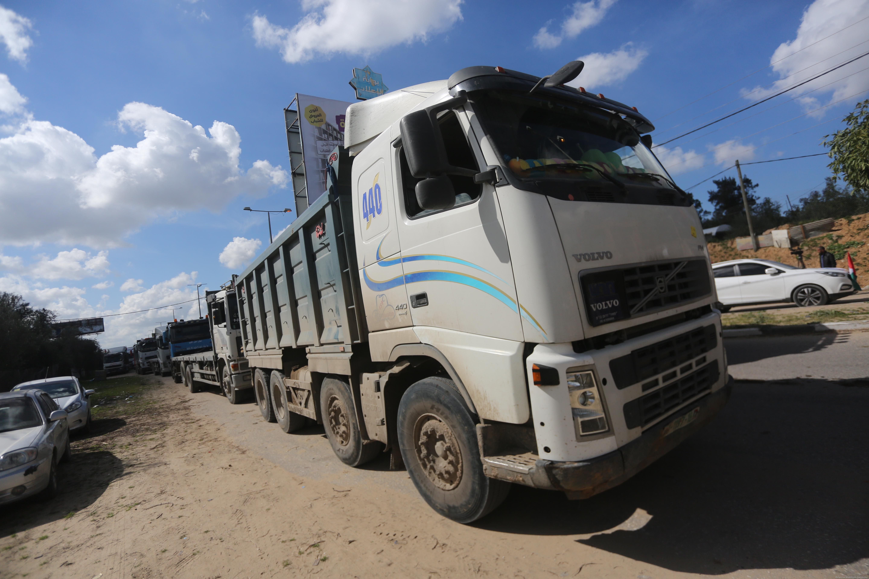 Truck driver strike in Gaza in 14 February 2018