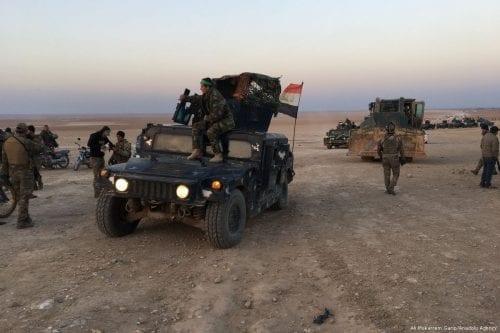 Iraqi army is seen in Saladin, Iraq on 7 February 2 2018 [Ali Mukarrem Garip/Anadolu Agency]