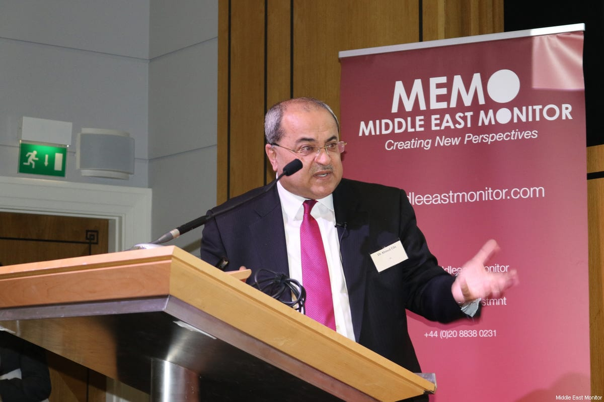 Dr Ahmad Tibi, Member of Knesset seen at Middle East Monitor's 'Jerusalem: Legalising the Occupation' conference in London, UK on 3 March, 2018 [Jehan Alfarra/Middle East Monitor]