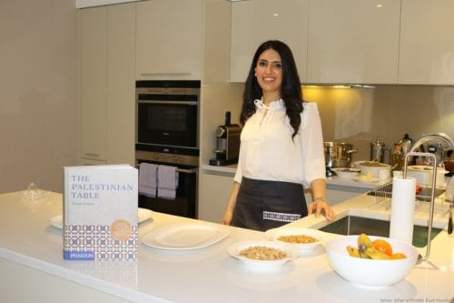 Reem Kassis author of cookbook 'The Palestinian Table' [Jehan Alfarra/Middle East Monitor]