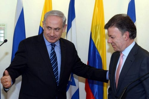 PM Netanyahu Meets with Columbian President Santos [Youtube]