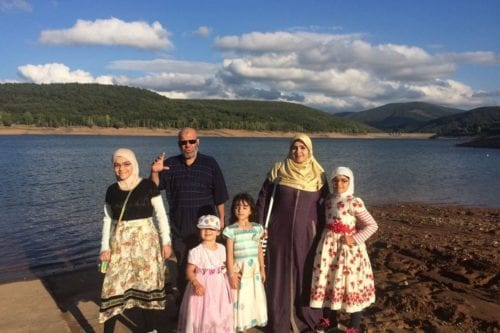 Dr. Alaa Mohamed Said with his wife and children
