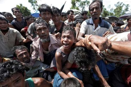 Rohingya Muslims fled to Bangladesh after being persecuted in Myanmar