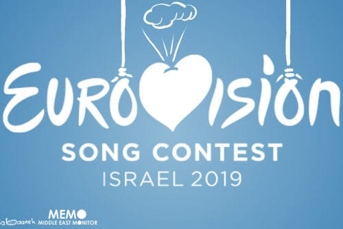 Global artists call for a boycott on Eurovision in solidarity with Palestinians - Cartoon [Sabaaneh/MiddleEastMonitor]