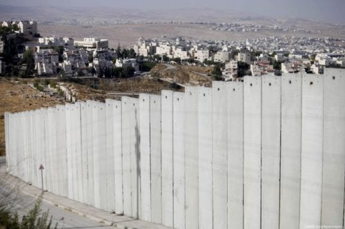 A picture shows a side of the Israeli separation wall arround Jerusalem on 9 July 2013 [Saeed Qaq/Apaimages]