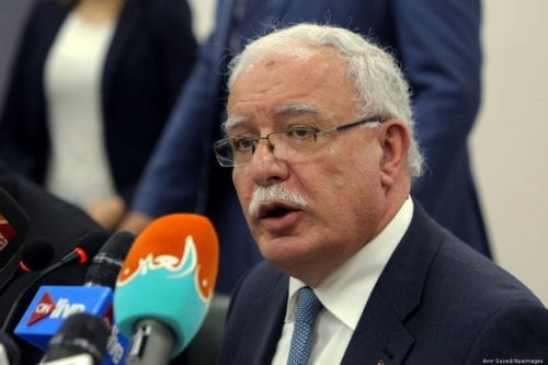 The Palestinian Authority (PA)'s Minister of Foreign Affairs Riyad Al-Malki in Cairo, Egypt 9 December 2017 [Amr Sayed/Apaimages]