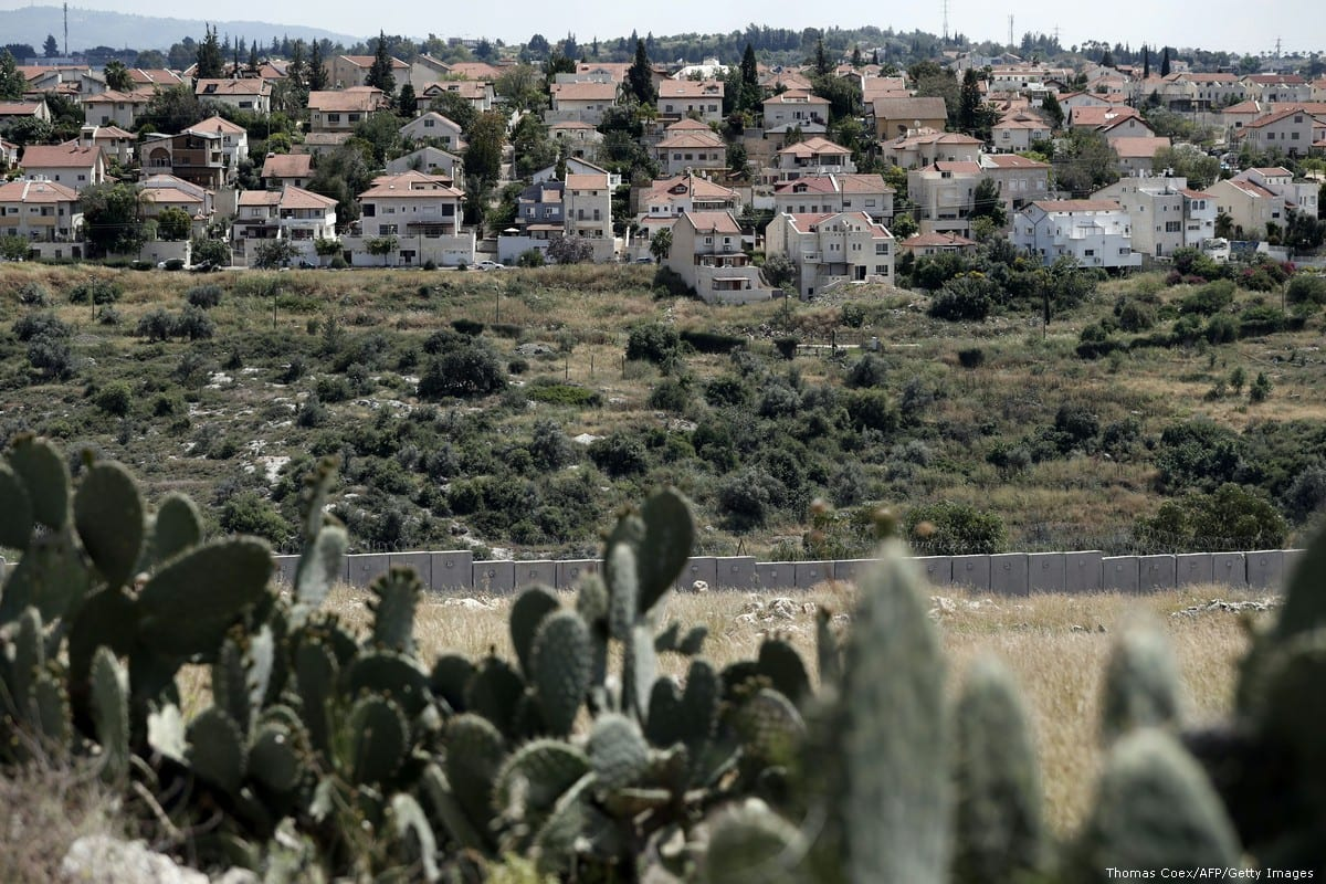 A general view of a Israeli settlement in the West Bank on 14 April 2016 [Thomas Coex/AFP/Getty Images]