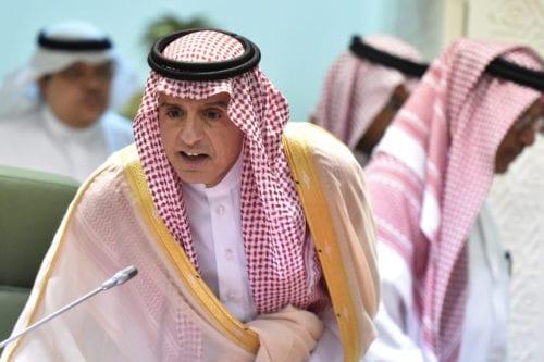 Saudi Foreign Minister Adel al-Jubeir speaks during a news conference in the desert kingdom's capital Riyadh on 15 November 2018. [Fayez Nureldine/AFP/Getty Images]