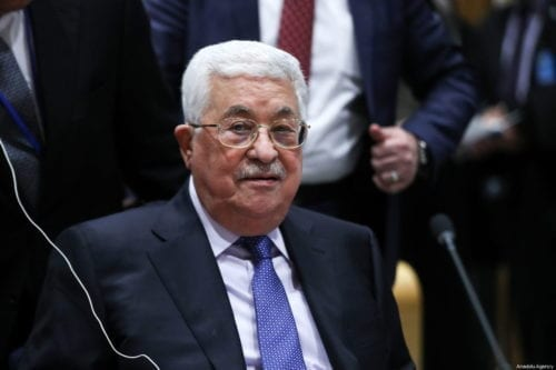 Palestinian President Mahmoud Abbas attends Handover Ceremony of the Chairmanship of the Group of 77, from the Egypt to Palestine at the United Nations Headquarter in New York, United States on 15 January 2018. [Atılgan Özdil - Anadolu Agency]