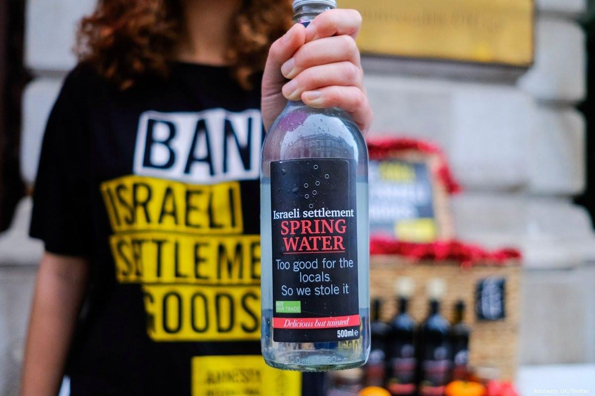 A campaign against Israeli settlement goods [Amnesty UK/Twitter]