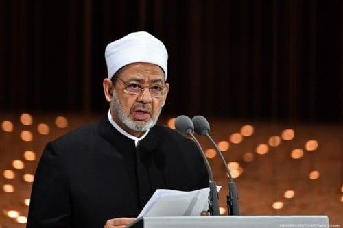 The Grand Imam of Egypt's Al-Azhar, Sheikh Ahmad Al-Tayeb on 4 February 2019 [VINCENZO PINTO/AFP/Getty Images]