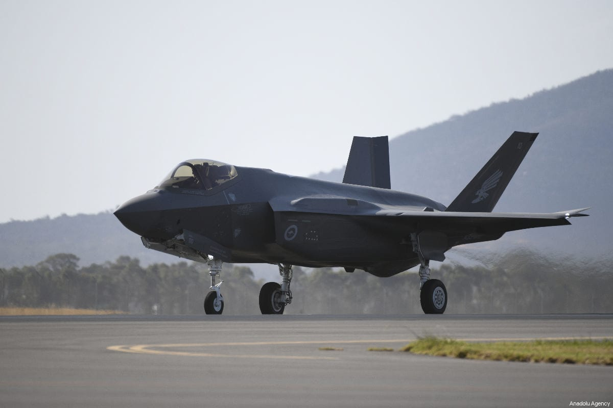 F-35 Lightning fighter jet performs during AVALON 2019 - the Australian International Airshow and Aerospace & Defence Exposition in Geelong, Australia on 1 March 2019. [Recep Şakar - Anadolu Agency]
