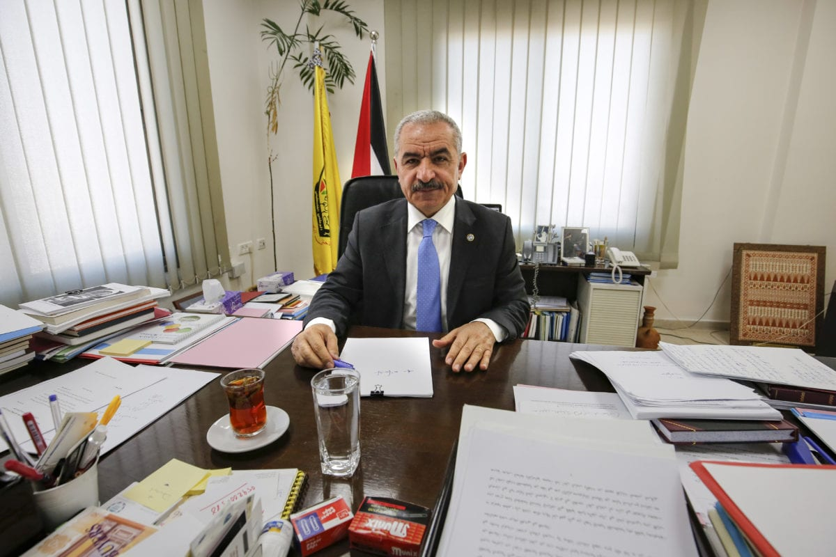 Newly-appointed Palestinian Prime Minister Mohammad Shtayyeh in the West Bank city of Ramallah on 10 March, 2019 [ABBAS MOMANI/AFP/Getty Images]