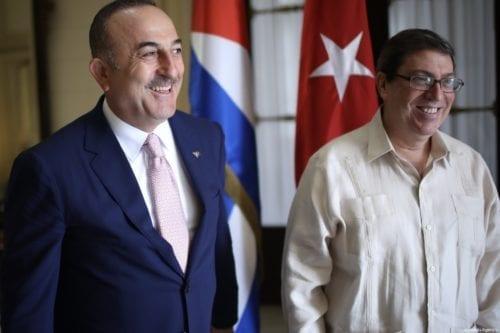 Turkish Foreign Minister Mevlut Cavusoglu (L) meets with Cuban Foreign Minister Bruno Eduardo Rodriguez Parrilla (R) in Havana, Cuba on 18 May, 2019 [Cem Özdel/Anadolu Agency]