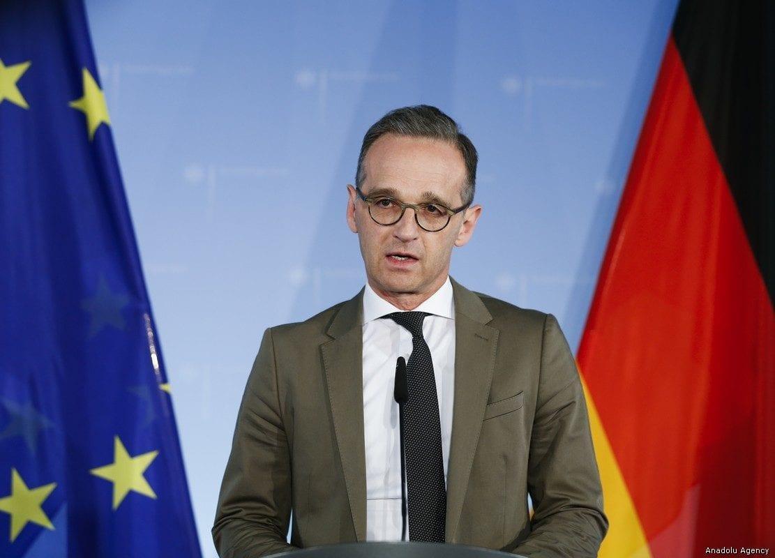 German Foreign Minister Heiko Maas speaks during the weekly press conference in Berlin on May 8, 2019 [Abdülhamid Hoşbaş / Anadolu Agency]
