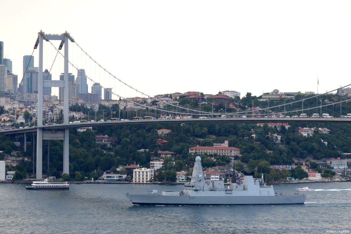 Warship belonging to British Navy on 12 July 2019 [Tansel Parlak/Anadolu Agency]