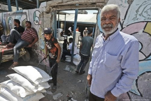 'Despite my age, I still receive food aid from the UN. Our refugees' lives need to be changed for the better, but not change in the American way,' Mohammed Rawwad, 70, originally from Jaffa