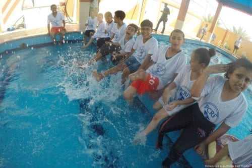 With school closed for the summer, disabled children join a summer camp in Gaza [Mohammed Asad/Middle East Monitor]